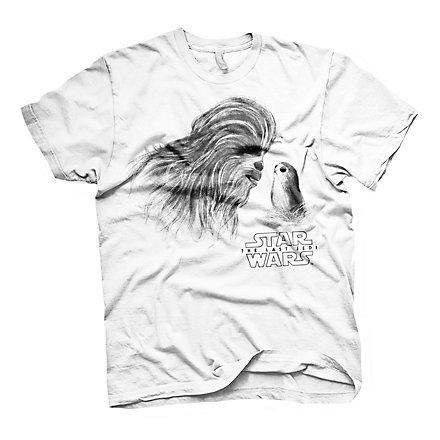 Star Wars 8 - T-Shirt Chewbacca & Porg