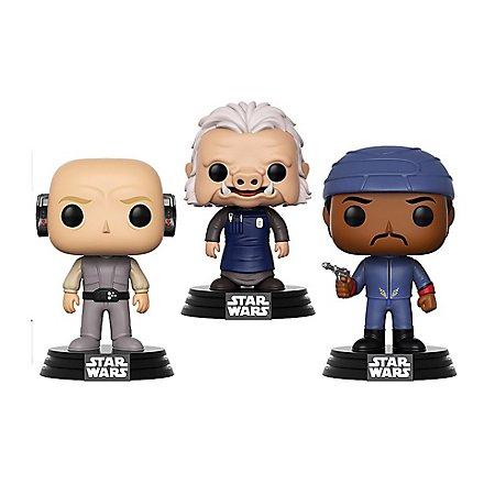 Star Wars - Lobot, Ugnaught, Bespin Guard Funko POP! Wackelkopf Figuren-Set