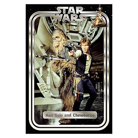 Star Wars - Poster Han und Chewie Retro