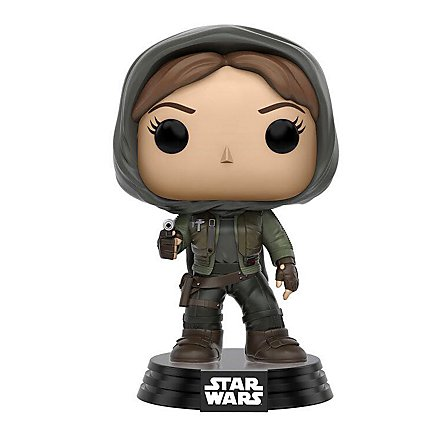 Star Wars: Rogue One - Jyn Erso mit Kapuze Funko POP! Wackelkopf Figur (Exclusive)