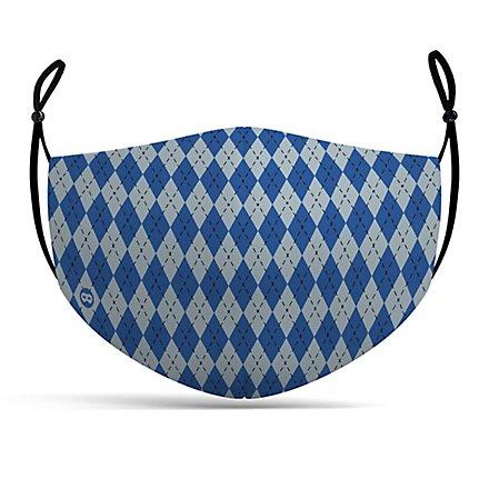 Stoffmaske Zauberschule blau