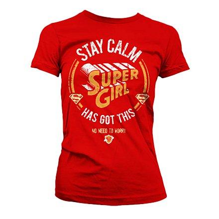 Supergirl - Girlie Shirt Stay Calm