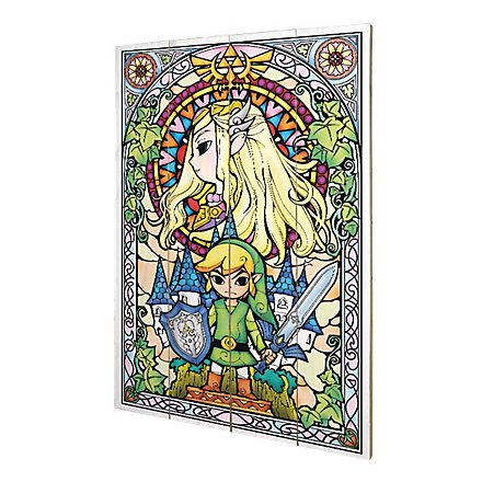 The Legend Of Zelda - Holz-Print Stained Glass