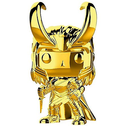 Thor - Loki (Gold Chrome) Funko POP! Wackelkopf Figur