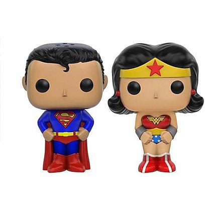 Wonder Woman - Salz- und Pfefferstreuer Superman & Wonder Woman POP! Home