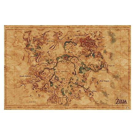 Zelda - Poster Breath Of The Wild: Hyrule World Map