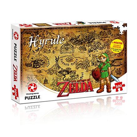Zelda - Puzzle Hyrule Karte mit 500 Teilen