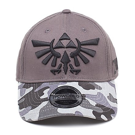Zelda - Tri-Force Logo Camouflage Curved Bill Cap