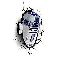 Star Wars - 3D Wandleuchte R2-D2