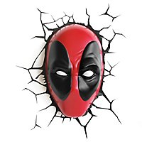 Deadpool - 3D Wandleuchte Maske