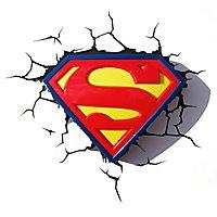 Superman - 3D Wandleuchte Logo