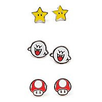 Super Mario - Ohrring-Set Boo, Superstar & Mushroom