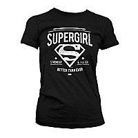 Supergirl - Girlie Shirt Strong & Faster