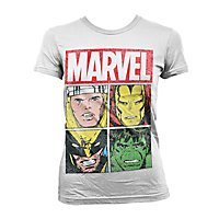 Marvel - Girlie Shirt Distressed Characters
