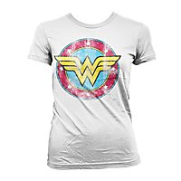 Wonder Woman - Girlie Shirt Distressed Logo
