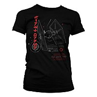 Star Wars 8 - Girlie Shirt T-0926 Tie Fighter
