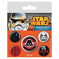 Star Wars - Ansteck-Buttons Dunkle Seite