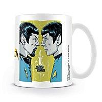 Star Trek - Tasse Spock Heute & Damals