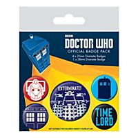 Doctor Who - Ansteck-Buttons Exterminate