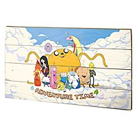 Adventure Time - Holz-Print Cloud