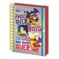 Super Hero Girls - A5 Notizbuch Move Over Boys
