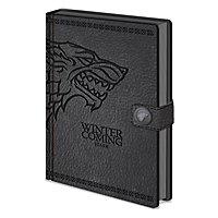 Game of Thrones - Premium Notizbuch Stark eingeprägt