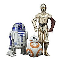 Star Wars - Statuen-Set C-3PO, R2-D2 & BB-8 1/10