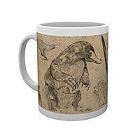 Phantastische Tierwesen - Tasse Niffler Skizzen