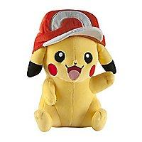 Pokémon - Plüschfigur Pikachu mit Ash Cap
