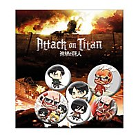 Attack on Titan - Ansteck-Buttons Chibi Mix
