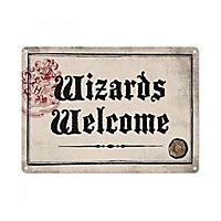 "Harry Potter - Blechschild ""Wizards Welcome"""