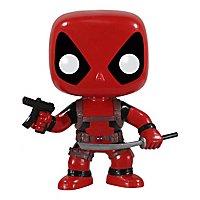 Deadpool - Wackelkopf Funko POP! Figur mit Maschinenpistole und Schwert