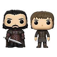 Game of Thrones - Jon Snow und Bran Stark Funko POP! Figuren limited