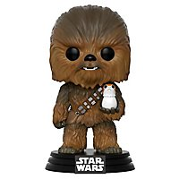 Star Wars 8 - Chewbacca mit Porg Funko Pop! Figur