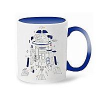 Star Wars 8 - R2-D2 Explosionszeichnung Tasse