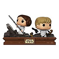 Star Wars - Luke & Leia in der Müllpresse Funko POP! Movie Moments Set