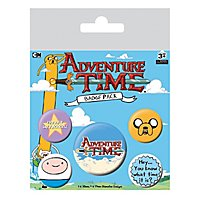 "Adventure Time - Ansteck-Buttons 5er-Pack ""Hey, you know..."""