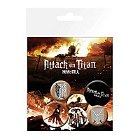 Attack on Titan - Ansteck-Buttons Characters