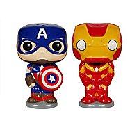 Avengers - Salz- und Pfefferstreuer Captain America & Iron Man POP! Home