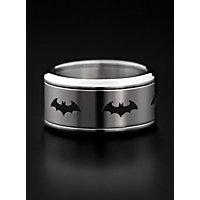 Batman - Emblem Ring rotierend silber