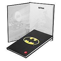 Batman - Notizbuch mit leuchtendem Batman Logo