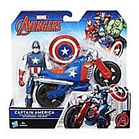 Captain America - Avengers Deluxe Actionfigur Captain America mit Motorrad