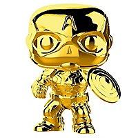 Captain America - Captain America (Gold Chrome) Funko POP! Wackelkopf Figur