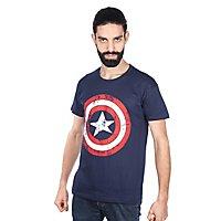 Captain America - T-Shirt Distressed Schild