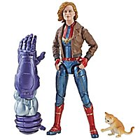 "Captain Marvel - Actionfigur Marvel Legends Captain Marvel in Bomberjacke mit Katze ""Goose"""