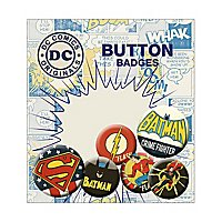 DC Comics - Ansteck-Buttons Retro Batman, Superman & Flash