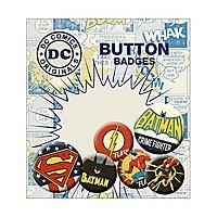 DC Comics - Ansteck-Buttons Retro Batman, Superman & Flash