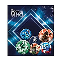 Doctor Who - Ansteck-Buttons Retro