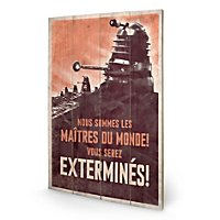 Doctor Who - Holz-Print Extermines