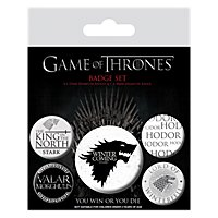 Game of Thrones - Ansteck-Buttons Winter is Coming